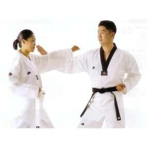 Adidas AdiChamp II Taekwondo Dobok Uniform with White V