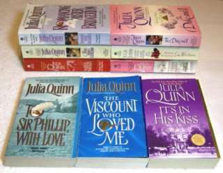 Lot of 9 Julia Quinn Complete BRIDGERTON series Duke Wicked Offer 1