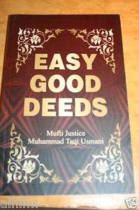 Easy Good Deeds Mufti Taqi Usmani Islamic Book Dua Zikr