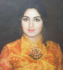 1980s Bollywood Actress Leena Chandavarkar Print