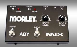 New in Box   Morley ABY Mix Guitar Mixer and Switcher