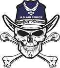 US AIR FORCE SKULL & CROSSBONES STICKER DECAL AMERICAN PRIDE NRA PILOT