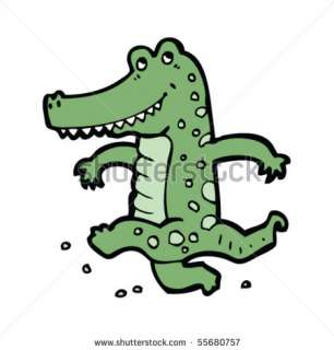 Dancing Crocodile Cartoon Stock Vector 55680757 : Shutterstock