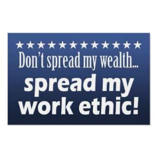 tea party sign poster   Spread my work ethic!  Zazzle.co.uk