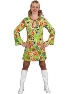 Womens Heart Design 70s Costume  Jokers Masquerade