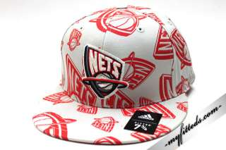 ADIDAS New Jersey Nets Official NBA Fitted Cap NEW