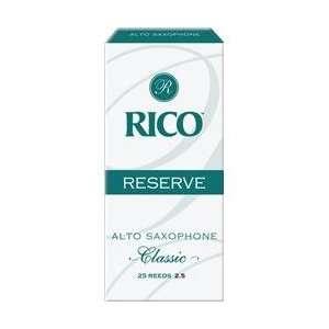 Rico Reserve Classic Alto Sax Reeds Box Of 25 Strength 2.5