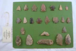 Geologist Ancient Native American Artifact Collection Arrowheads Tools