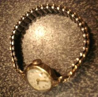 Vintage RARE 10K Gold Plate Bulova 17 Jewel Watch Tics