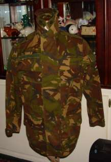 DUTCH MILITARY ARMY CAMO FIELD JACKET SHARP GREEN MED
