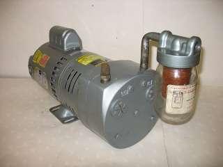 Gast Vacuum Pump 0823 101Q G271X, 1/2 HP, 115/230, Filter