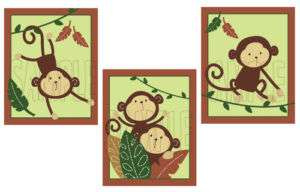 if for Monkey Bars Nursery Baby Art Set of 3