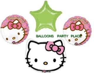 HELLO KITTY birthday baby shower party mylar balloons pink green