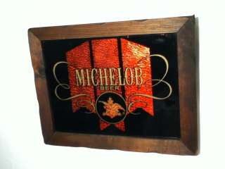 M5 MICHELOB BEER SIGN MIRROR BAR ADVERTISING VINTAGE ANHEUSER BUSCH