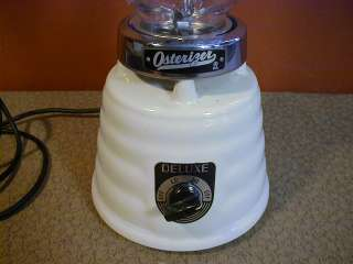 Vintage Oster 403 OSTERIZER 2 Speed Blender Enameled Bee Hive Art Deco