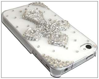 Luxury Bling Rhinestone Cross 3D Crystal Hard Back Case for iPhone 4S