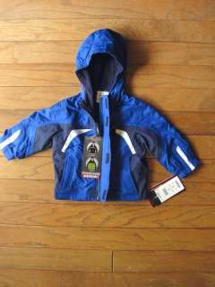Baby Boys Winter Coat Snowsuit Blue Size 12 Months Hooded Jacket Set