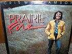 CRIS WILLIAMSON Prairie Fire LP Bonnie Raitt SEALED