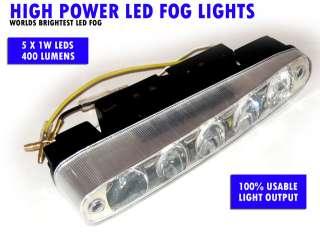 High Power LED Fog Lights Car/Truck/4X4 White Universal