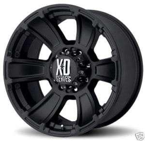 20 XD XD796 REVOLVER Wheels & TIRES Black OFFROAD RIMS
