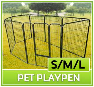 Heavy Duty Pet Dog Cat Exercise Pen Playpen Fence Yard Kennel Portable