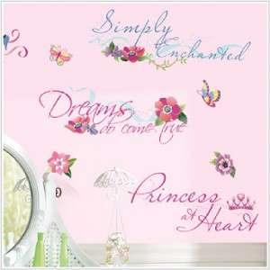 Baby Nursery Decor DISNEY PRINCESS QUOTES Wall Decals 034878082349