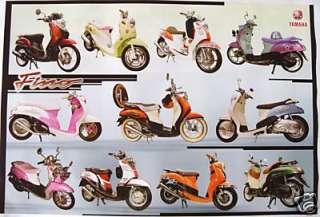 YAMAHA FINO MOTORCYCLE POSTER   11 MODELS, SCOOTER