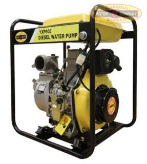 NEW 3 Industrial / Commercial Diesel Water Pump Electric / Recoil