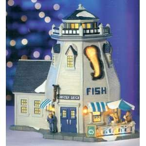 Christmas Village Collection ~ Lobster Shack ~ Electric Light Display