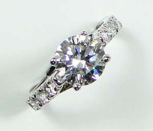 Plated 1.9ct Round Cubic Zirconia XMAS GIFT Diamond Cut Ring AR0844