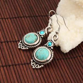 New Elegant Turquoise Rhinestone Earrings Dangle Drop