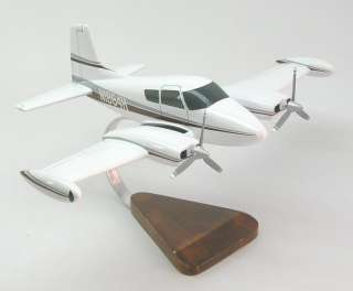 Cessna 310 Private Airplane Desktop Wood Model Reg FS