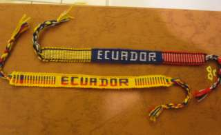 COUNTRY FLAG WRISTBAND FRIENDSHIP BRACELET, ECUADOR