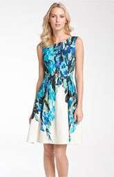 Donna Ricco Sleeveless Floral Print Linen Dress $118.00