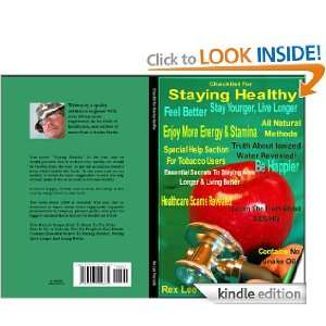 : Checklist For Staying Healthy eBook: Rex Lee Reynolds: Kindle Store