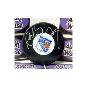 Rod Gilbert autographed New York Rangers Hockey Puck