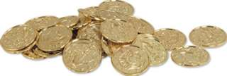 Plastic Gold Coins Pirate Casino Theme Party Decoration