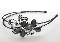 Rhinestone Headbands Flower Butterfly Hair Marble Crystal Head Beads