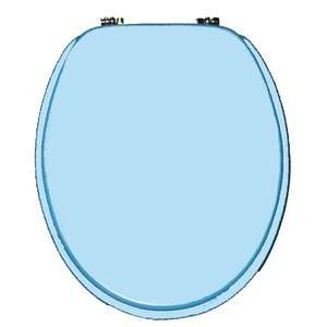Trimmer Molded Wood Toilet Seat in Blue Plumbing