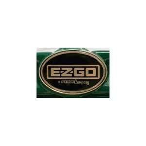 EZGO Workhorse Golf Cart Name Plate Emblem Gold Sports
