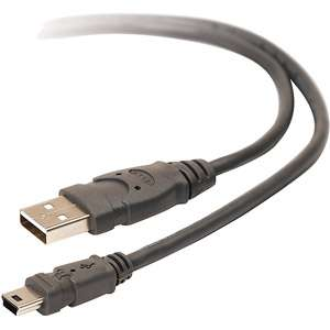 Belkin Pro Series 10 USB 2.0 5 Pin Min B Cable: Computers