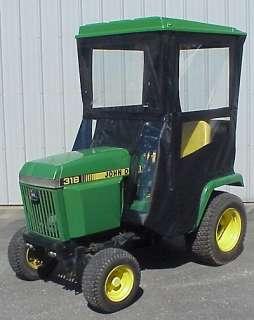 top cab enclosure fits john deere 318 420 430 lawn garden tractors
