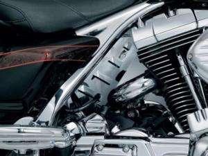 KURYAKYN CHROME ENGINE FILLER PANEL 4 HARLEY FLT 7857