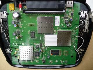 Rear view of the Linksys E3000 Dual Band Gigabit Router