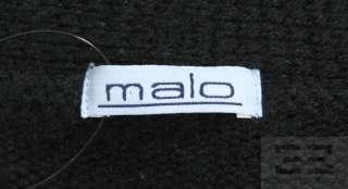 Malo Black Cashmere Cardigan Sweater Size 40