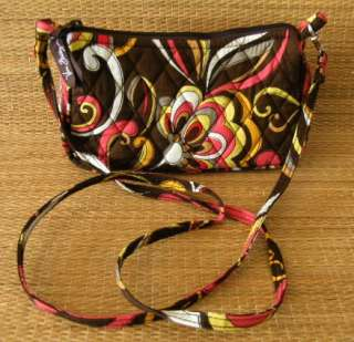 Vera Bradley Brown Puccini Small Amy Handbag Purse EUC