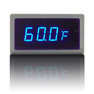Digital Blue LED Thermometer Auto Car Meter Ext DS18B20