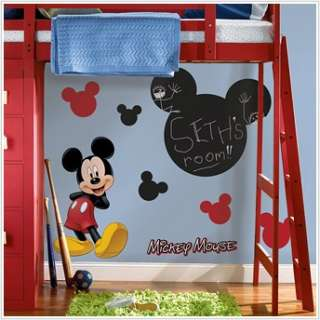 Mickey Mouse Chalkboard Wall Decals Childrens Stickers 034878034867