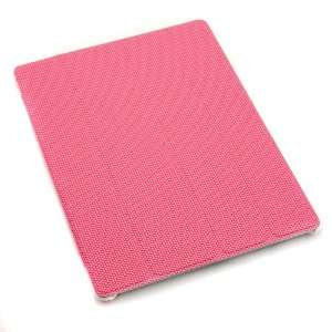 Magnetic Smart Cover Case Protector with Cross Threads for iPad 2 PU