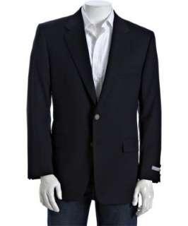 Hickey Freeman Loro Piana navy wool cashmere 2 button Madison blazer